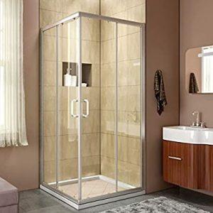 Elegant Shower Semi-frameless Bypass Doors