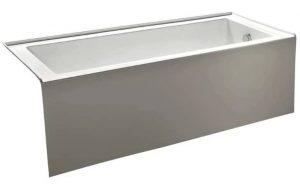 KINGSTON BRASS 60-Inch Contemporary Alcove Acrylic Bathtub