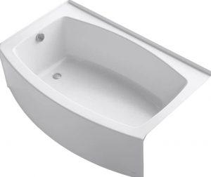 KOHLER K-1100-LA-0 Expanse Curved Integral Apron Bathtub