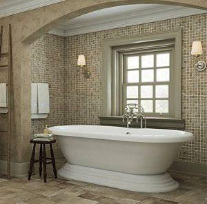 Luxury 60 inch Freestanding Tub with Vintage Tub Design
