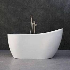WOODBRIDGE Acrylic Freestanding Contemporary Soaking Tub