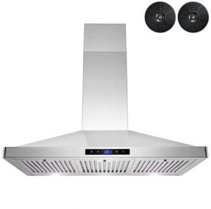 AKDY 36 in Convertible Stainless Steel Wall Mount Range Hood