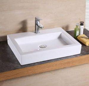 Luxier CS-021 ceramic bathroom sink.