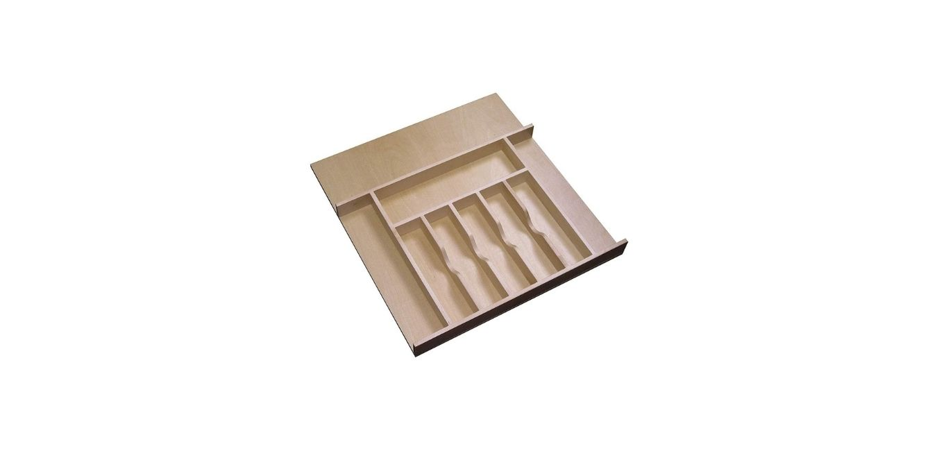 Large Cabinet Drawer Wood Cutlery Tray Insert