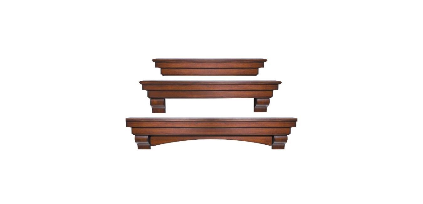 Pearl Mantels 495-60 The Auburn Mantel Shelf