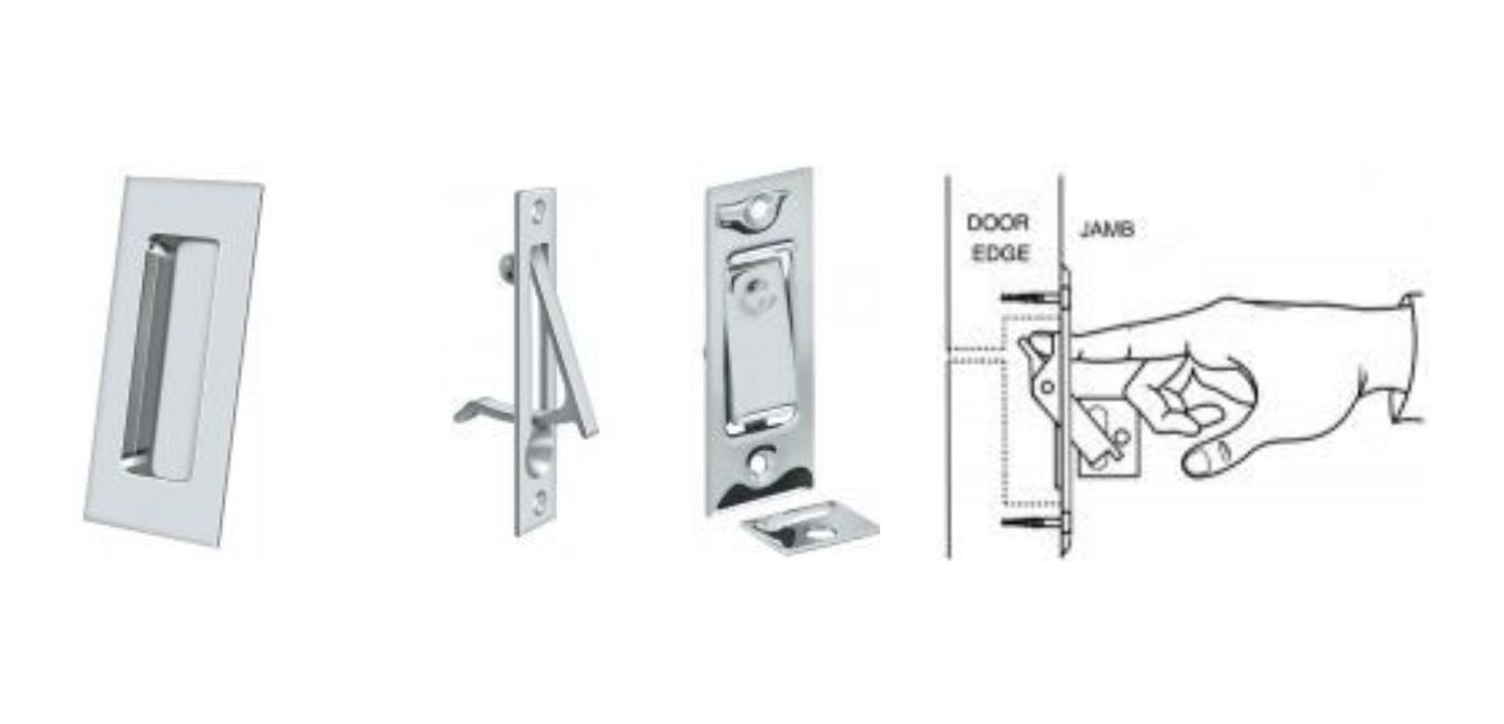 Separate flush pulls and edge pulls